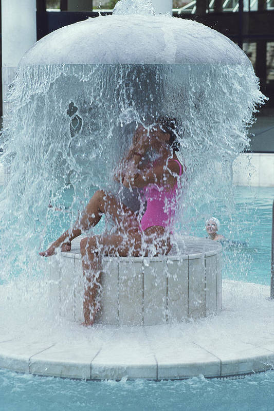 Baden-baden Art Print featuring the photograph Caracalla Therme by Slim Aarons