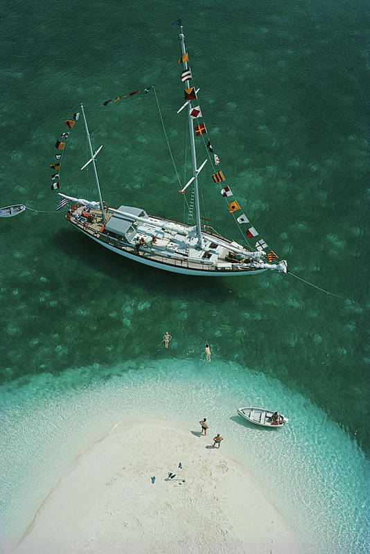 People Art Print featuring the photograph Exuma Holiday by Slim Aarons