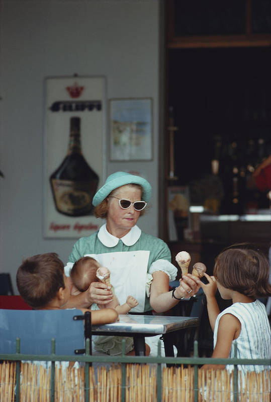 Child Art Print featuring the photograph Ice Cream Time by Slim Aarons