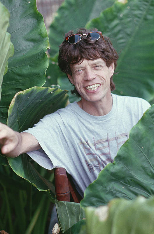 Mick Jagger Art Print featuring the photograph Jagger On Holiday by Slim Aarons