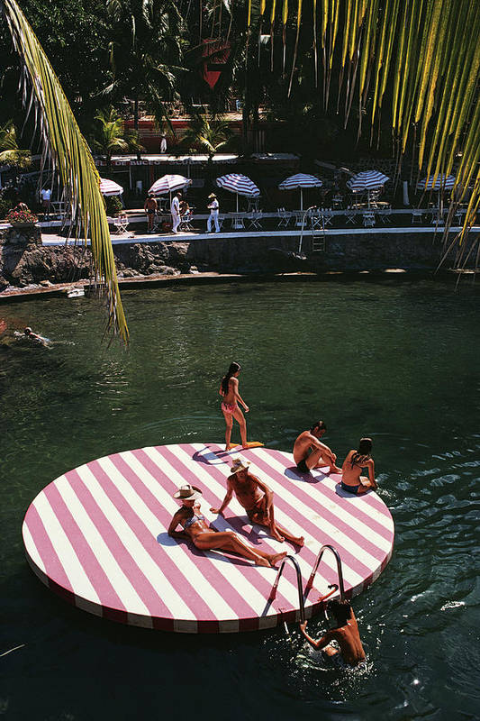 People Art Print featuring the photograph La Concha Beach Club by Slim Aarons