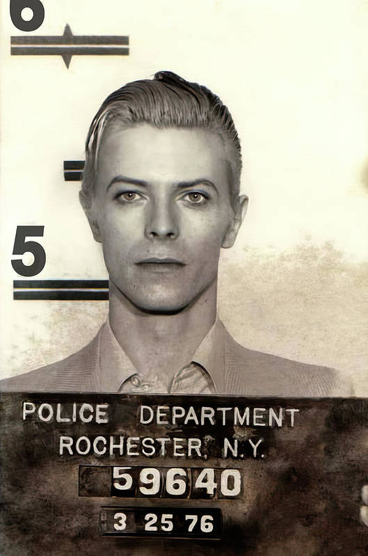 Thin White Duke Arrested 1976 by Daniel Hagerman