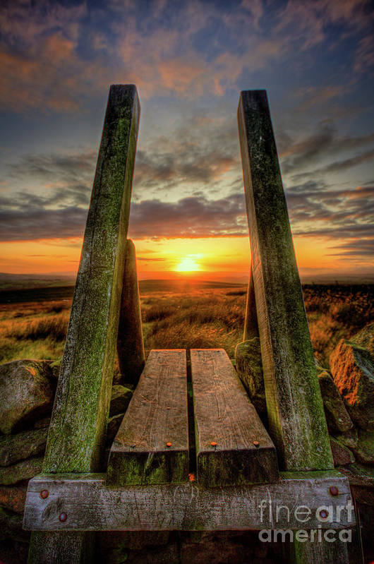 Stile To Sunset, Elslack Moor by Tom Holmes Photography