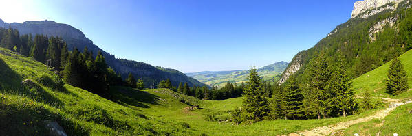 Appenzell Art Print featuring the photograph Panorama Of The Appenzeller Hills Near Mount Saentis Switzerland by PIXELS XPOSED Ralph A Ledergerber Photography