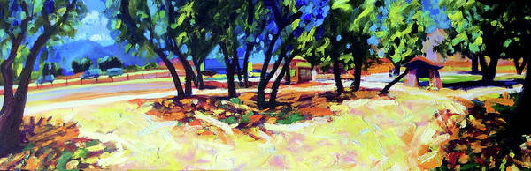 Freeway Art Print featuring the painting Oasis by Bonnie Lambert