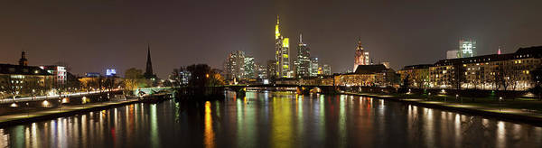 Panoramic Art Print featuring the photograph Germany, Frankfurt, View Of City At by Westend61