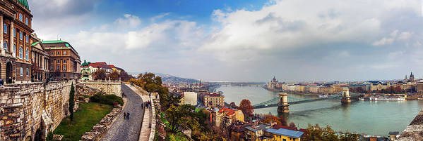 Hungarian Parliament Building Art Print featuring the photograph Budapest - Sweeping View by John And Tina Reid