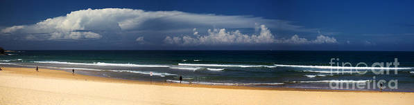Manly Beach Art Print featuring the photograph Manly Beach panorama by Sheila Smart Fine Art Photography