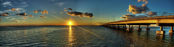 Panoramic Art Print featuring the photograph Queen Isabella Causeway by Joshua Bozarth