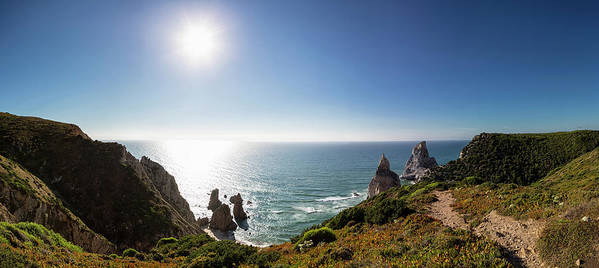 Tranquility Art Print featuring the photograph Portugal, View Of Praia Da Ursa by Westend61