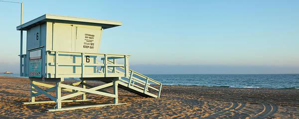 Water's Edge Art Print featuring the photograph Santa Monica Lifeguard Station by S. Greg Panosian