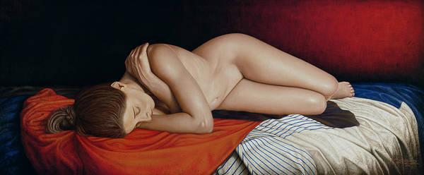 Nude Art Print featuring the painting Sleeping Nude by Horacio Cardozo