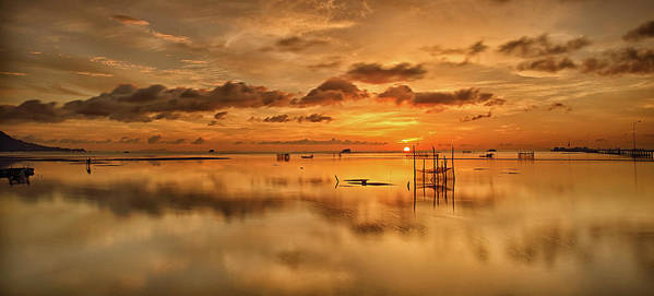 Scenics Art Print featuring the photograph Sunrise, Phu Quoc, Vietnam by Huyenhoang