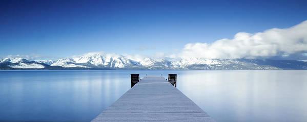 Lake Art Print featuring the photograph Lake Tahoe Panorama by Matthew Train