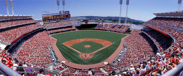 Great American Ball Park Art Print featuring the photograph Houston V Reds by Jerry Driendl