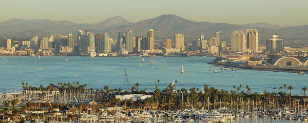 Downtown District Art Print featuring the photograph San Diego Skyline by S. Greg Panosian