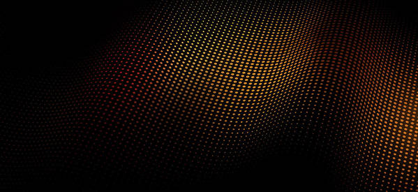 Shadow Art Print featuring the digital art A Wave Pattern Of Dots Over Shadow by Ralf Hiemisch