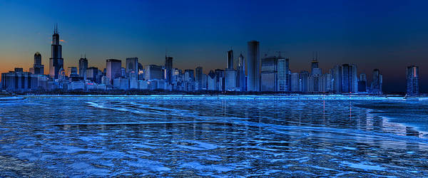 Lake Michigan Art Print featuring the photograph Cityscape by Justin W. Kern