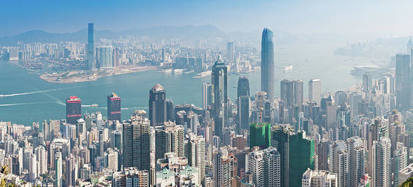 New Territories Art Print featuring the photograph Hong Kong Iconic Skyscraper City by Fotovoyager