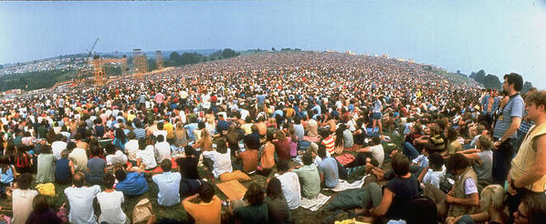 Timeincown Art Print featuring the photograph Wide-angle Pic Of Seated Crowd Listening by John Dominis