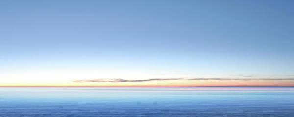 Lake Michigan Art Print featuring the photograph Xxl Serene Twilight Lake by Sharply done