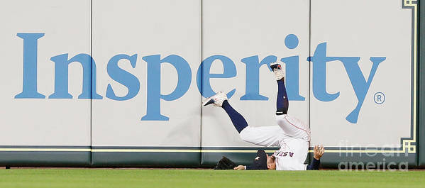 People Art Print featuring the photograph Khris Davis and George Springer by Bob Levey