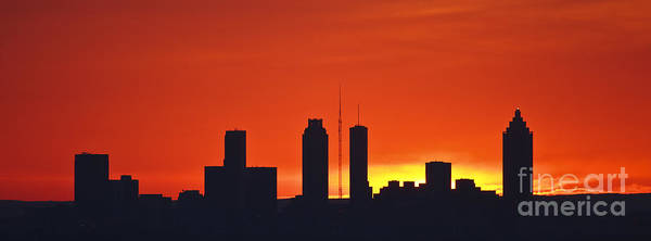 Atlanta Art Print featuring the photograph City On Fire by Jennifer Ludlum