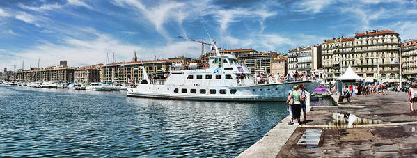 Port Art Print featuring the pyrography Marseille Vieux Port by Manuel Oter