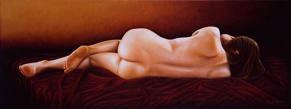 Nude Art Print featuring the painting Resting Nude by Horacio Cardozo