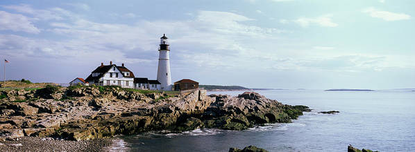 Extreme Terrain Art Print featuring the photograph Portland Head Lighthouse, Cape by Tony Sweet