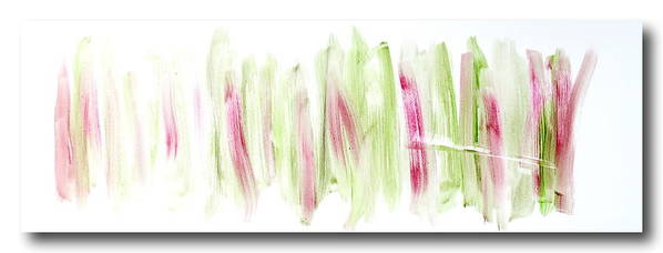 Oil. Abstract Art Print featuring the painting Rhubarb in the Garden by Tom Atkins