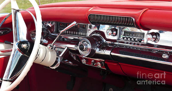 1958 Buick Special Art Print featuring the photograph 1958 Buick Special Dashboard by Tim Gainey