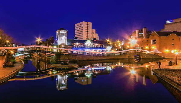 Birmingham Art Print featuring the photograph Blue Hour In Birmingham by Fiona Mcallister Photography