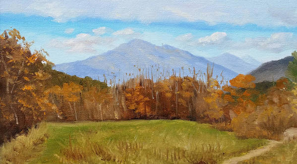 Mountains Art Print featuring the painting Early November at First Bridge by Sharon E Allen