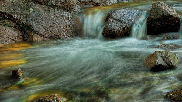 Water Art Print featuring the photograph Flowing Softly by Tim Reaves