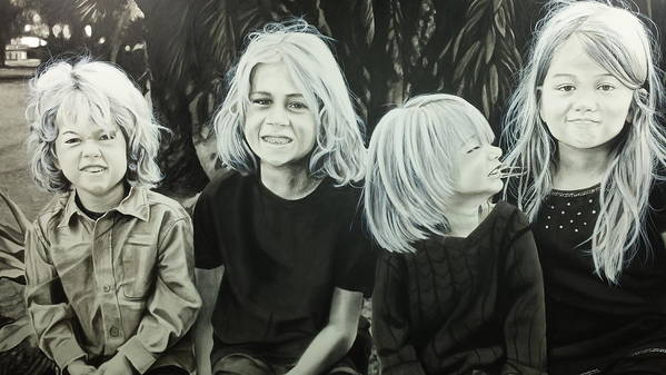 Portraits Art Print featuring the painting The Kids by Scott Robinson
