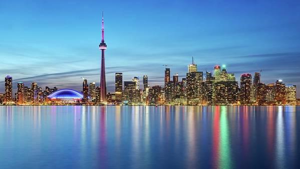Tranquility Art Print featuring the photograph Toronto Skyline by Thomas Kurmeier