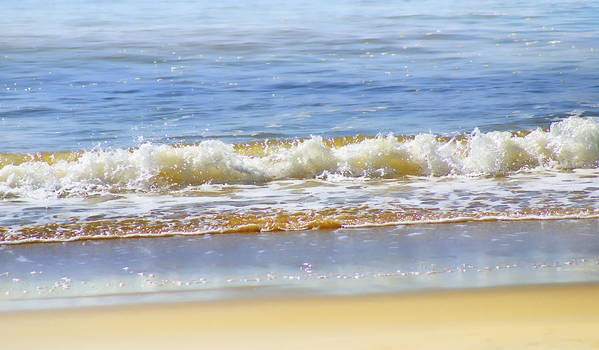 Seascapes Art Print featuring the photograph By the Coral Sea by Holly Kempe