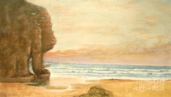 Seascape Painting Art Print featuring the painting Elephant Rock by Nicholas Minniti