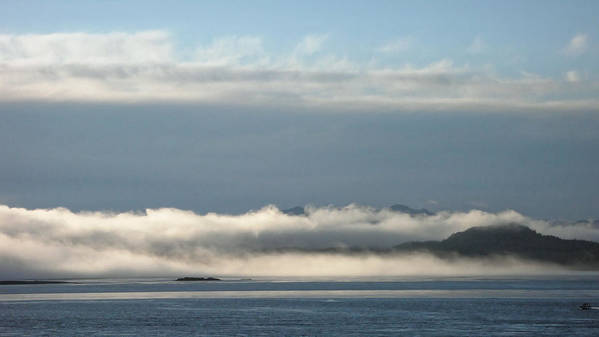 Fog Art Print featuring the photograph Fogbank, Tofino 2007 by Chris Honeyman