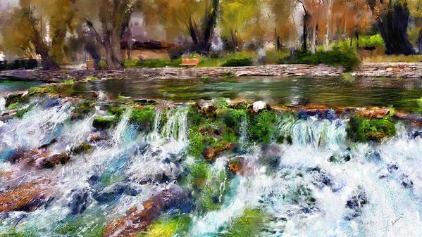 Giant Springs Art Print featuring the digital art Giant Springs 1 by Susan Kinney