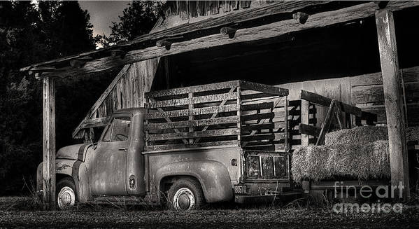 Scotopic Art Print featuring the photograph Scotopic Vision 5 - The Barn by Pete Hellmann
