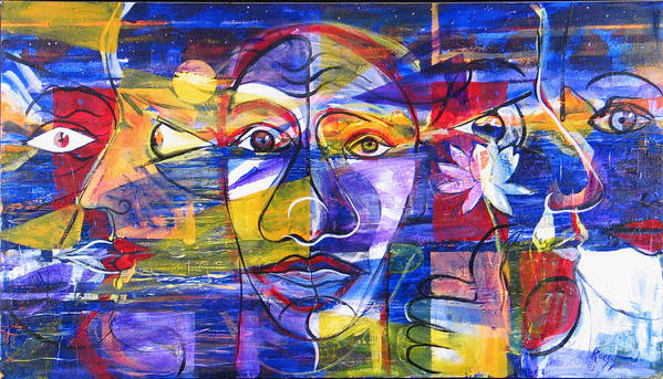 Love Art Print featuring the painting Speak To Me Baby... by Rollin Kocsis
