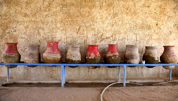 Sudan Art Print featuring the photograph Sudan water jars by Marcus Best