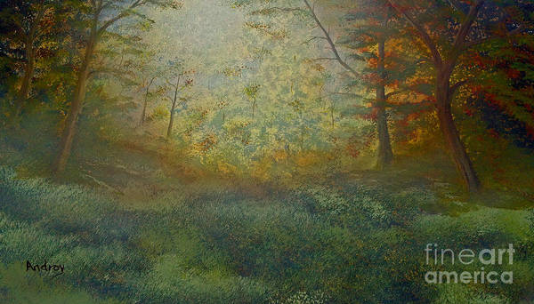 Trees Art Print featuring the painting Tranquility by Todd Androy