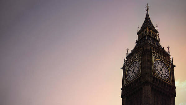 Clock Tower Art Print featuring the photograph Big Ben Clock Tower by Sherif A. Wagih (s.wagih@hotmail.com)