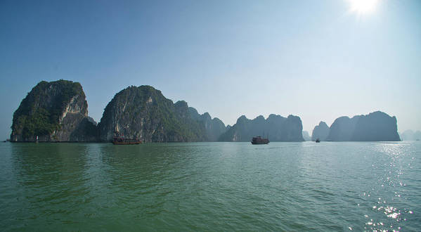 Scenics Art Print featuring the photograph Ha Long Bay by By Thomas Gasienica