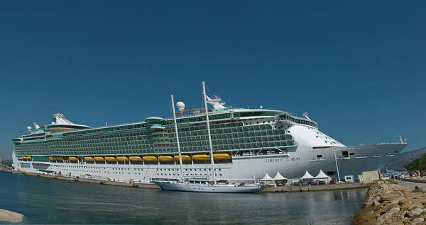 Cruise1109 Art Print featuring the photograph Liberty of the Seas by Richard Henne