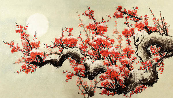 Chinese Culture Art Print featuring the digital art Plum Blossom by Vii-photo