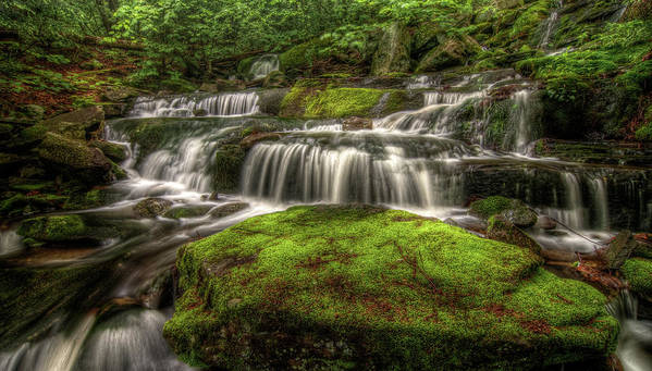 Scenics Art Print featuring the photograph Catskill Waterfall by Kevin A Scherer